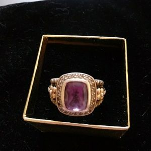 Jewelry - Sterling Authentic Amethyst Unique Ring